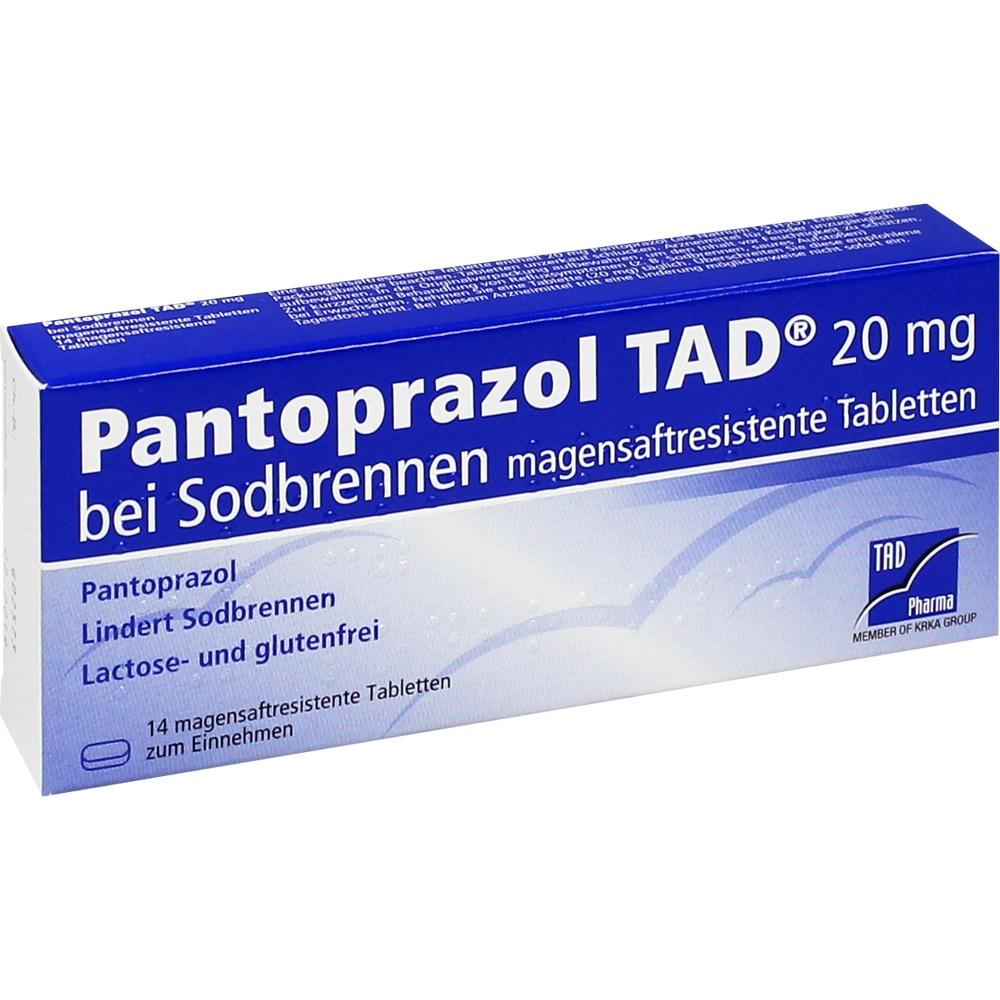 05522708, Pantoprazol TAD 20mg bei Sodbrennen, 14 ST