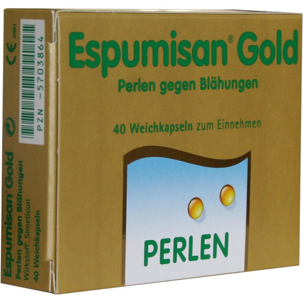 05703864, Espumisan Gold Perlen gegen Blähungen, 40 ST
