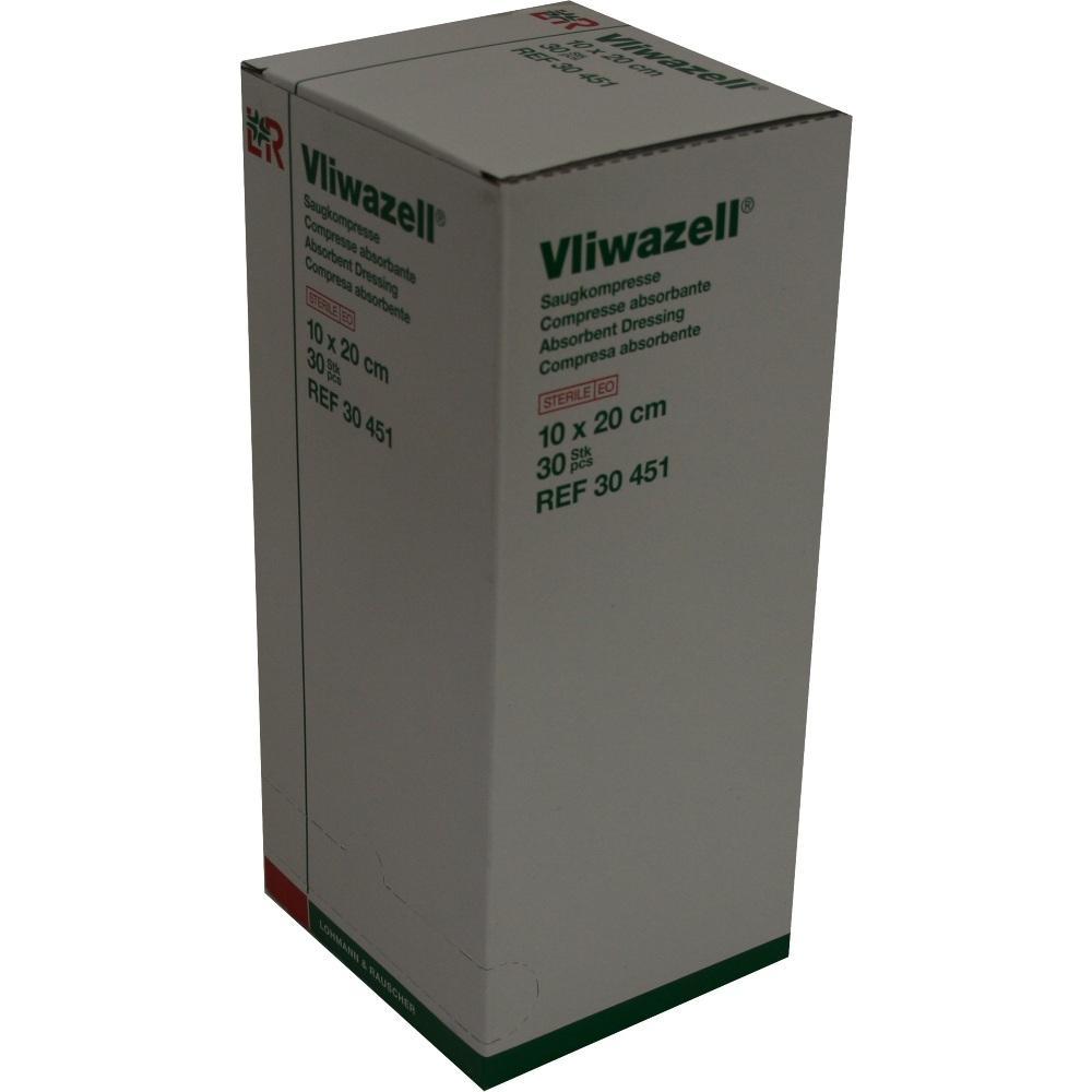 VLIWAZELL Saugkompressen 10x20 cm steril