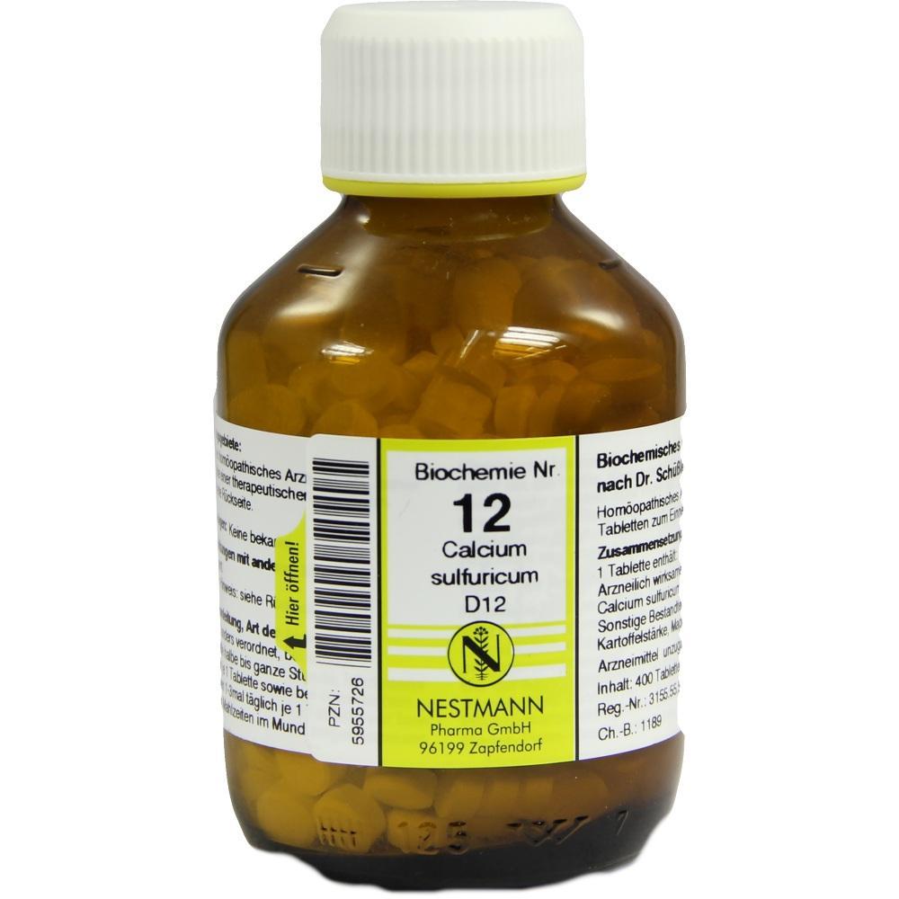 BIOCHEMIE 12 Calcium sulfuricum D 12 Tabletten