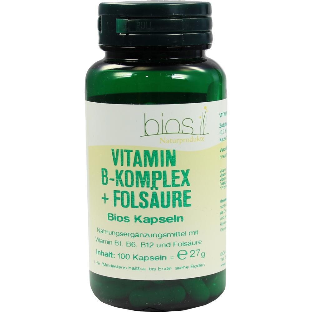 VITAMIN B Komplex+Folsäure Bios Kapseln