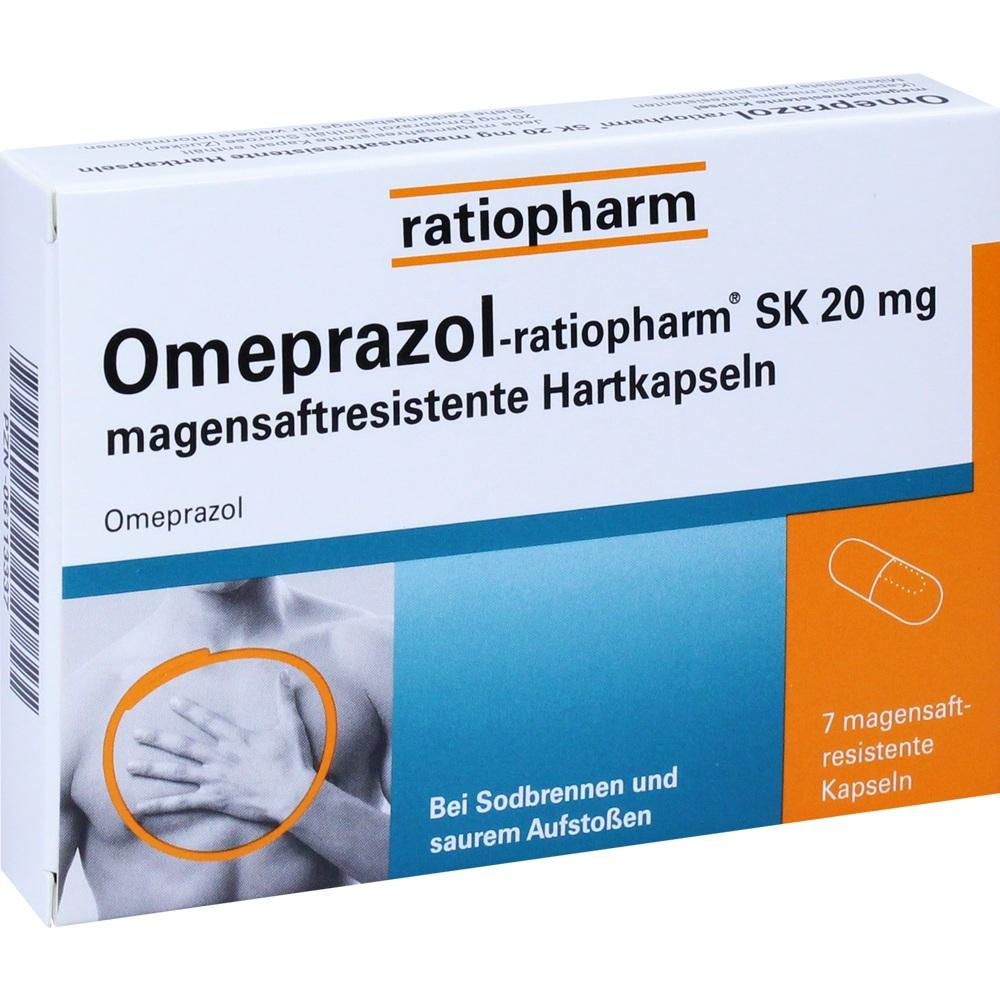 06113337, Omeprazol-ratiopharm SK 20mg magensaftres.Hartkap., 7 ST