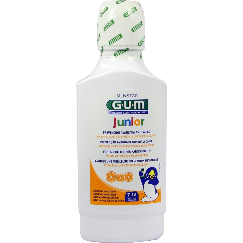 06194614, GUM Junior Mundspülung m. Calcium Orange 7-12 Jahr, 300 ML