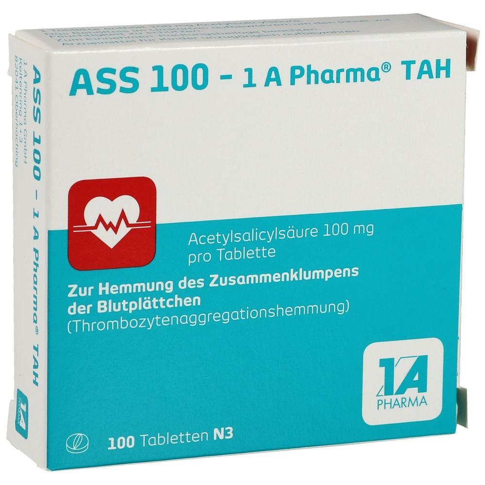 06312077, ASS 100 - 1 A Pharma TAH, 100 ST