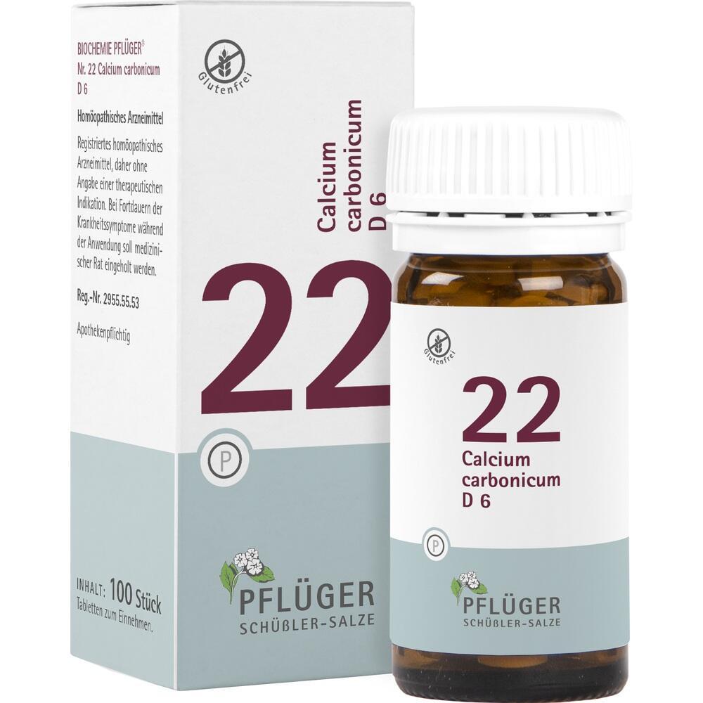 06322816, Biochemie Pflüger Nr. 22 Calcium carbonicum D 6, 100 ST