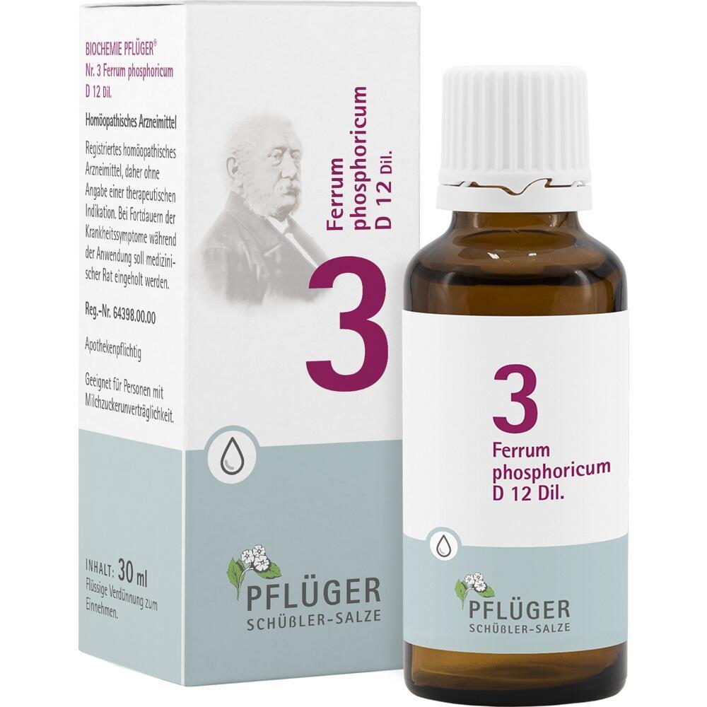 06323833, Biochemie Pflüger Nr. 3 Ferrum phosphoricum D 12, 30 ML