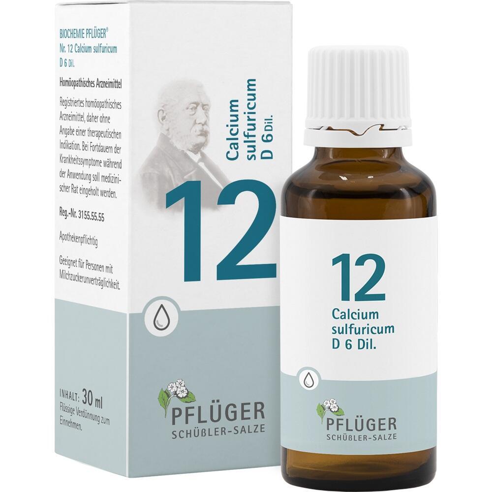 06324778, Biochemie Pflüger Nr. 12 Calcium sulfuricum D 6, 30 ML