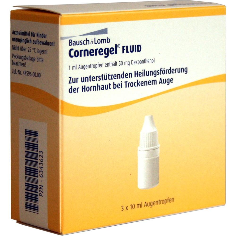 06343623, Corneregel Fluid Augentropfen, 3X10 ML