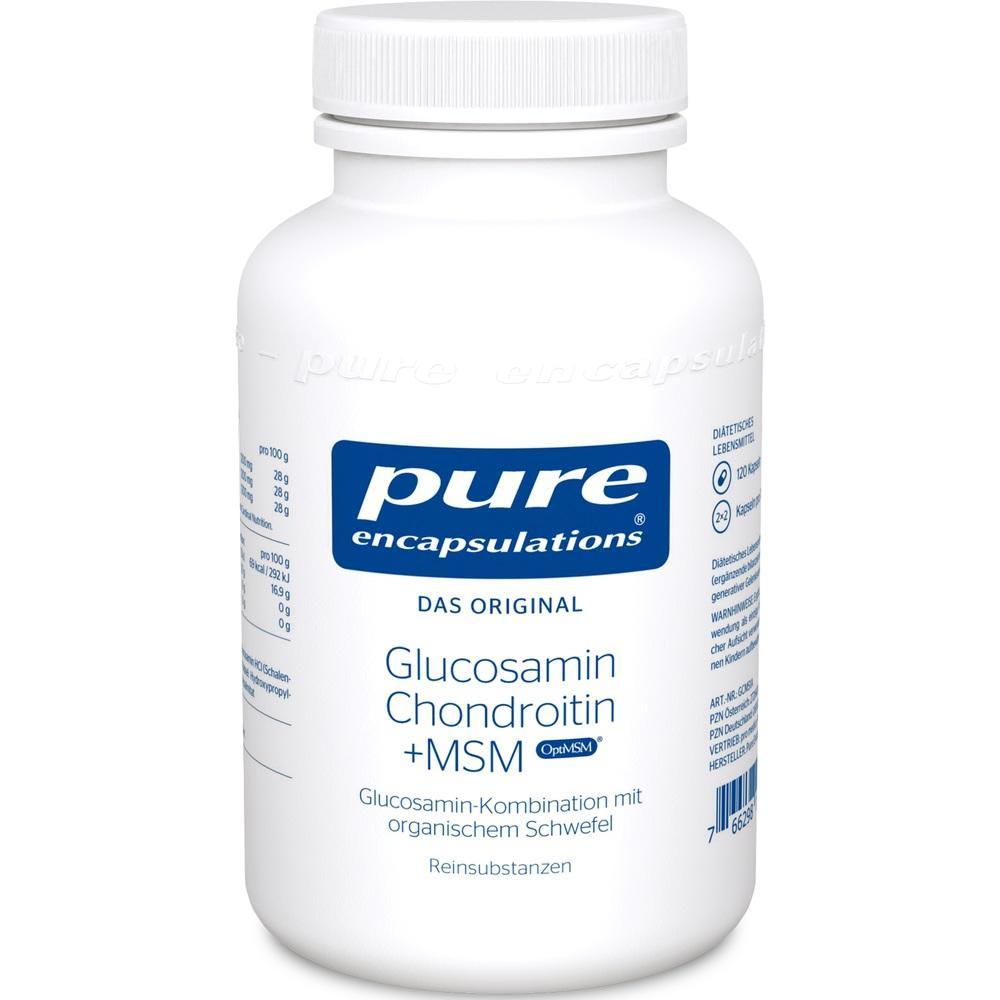 06552284, PURE ENCAPSULATIONS Glucosamin + Chondroitin+MSM, 120 ST