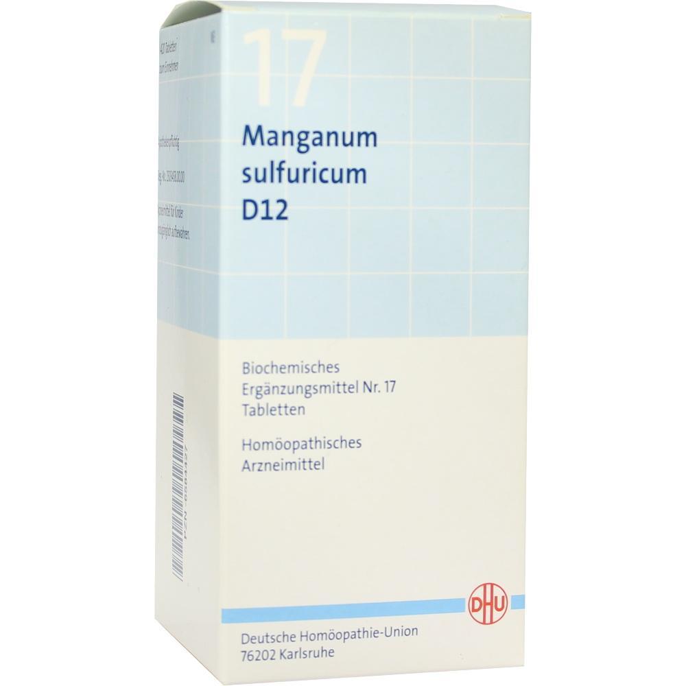 06584427, BIOCHEMIE DHU 17 Manganum sulfuricum D12 Tabl., 420 ST