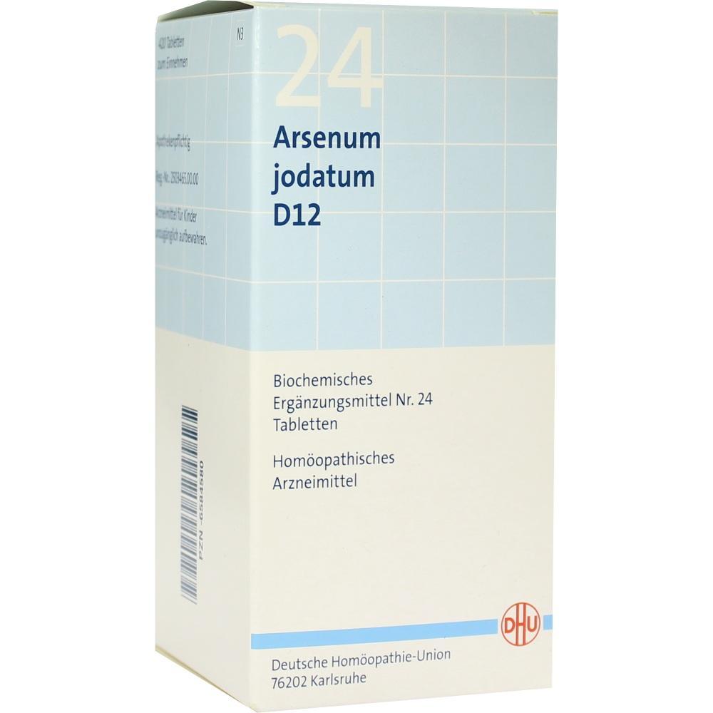 06584580, BIOCHEMIE DHU 24 Arsenum jodatum D12 Tabl., 420 ST
