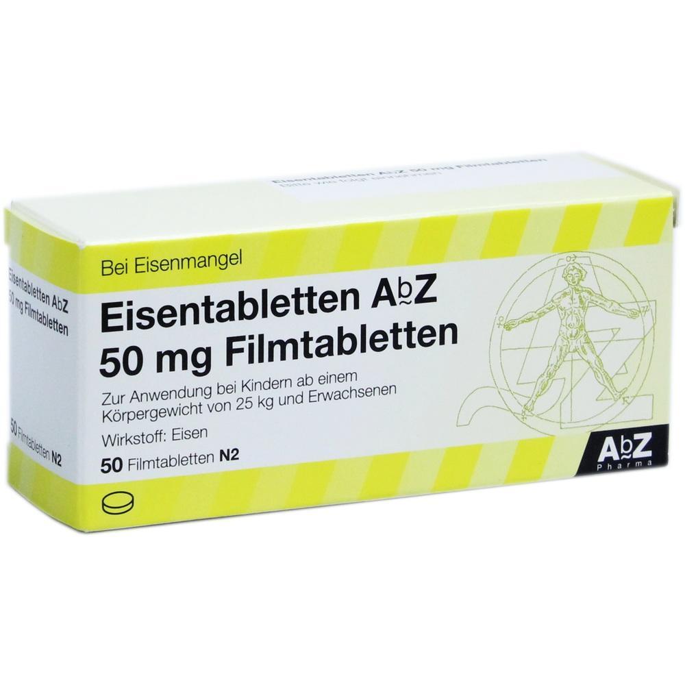 06683721, Eisentabletten AbZ 50 mg Filmtabletten, 50 ST