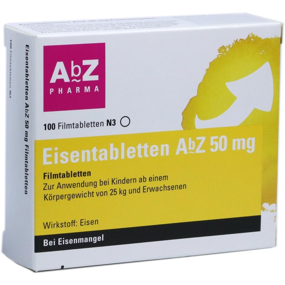 06683738, Eisentabletten AbZ 50 mg Filmtabletten, 100 ST