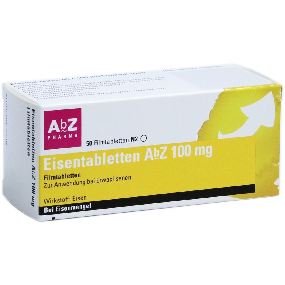 06683750, Eisentabletten AbZ 100 mg Filmtabletten, 50 ST