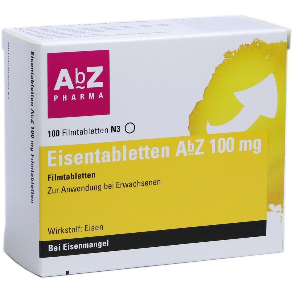 06683767, Eisentabletten AbZ 100 mg Filmtabletten, 100 ST