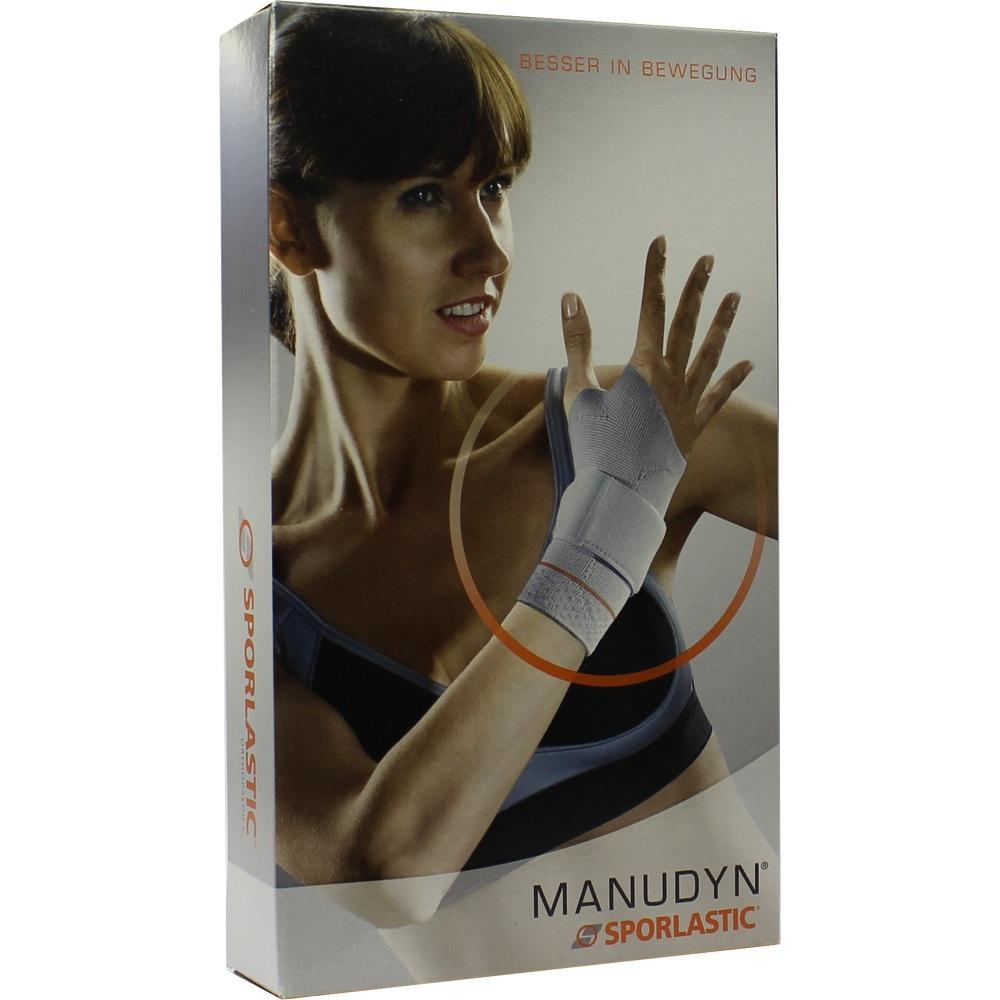 06727217, Manudyn links schwarz-col Gr.M Handgelenkbandage, 1 ST