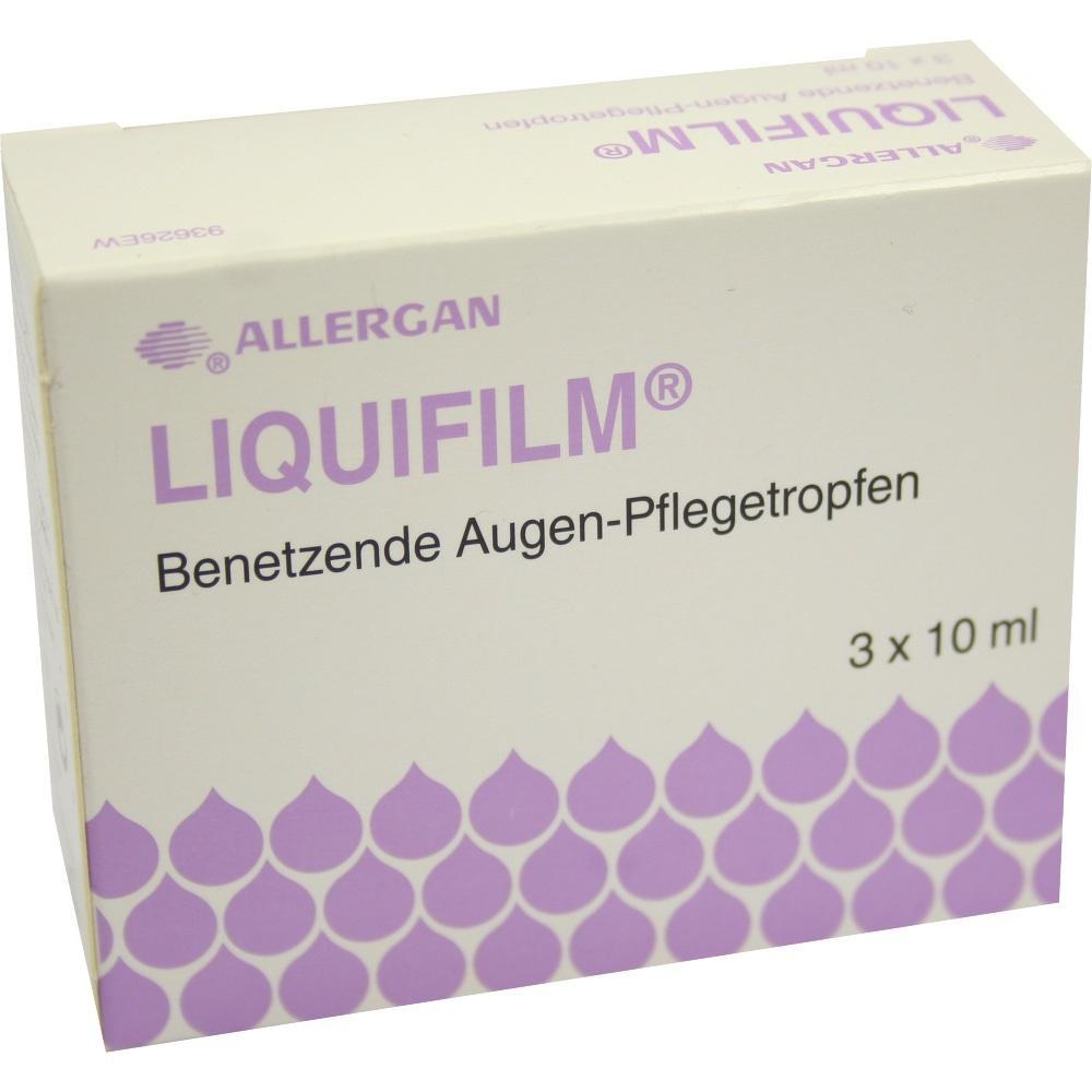 06785108, Liquifilm Benetzende Augen-Pflegetropfen, 3X10 ML