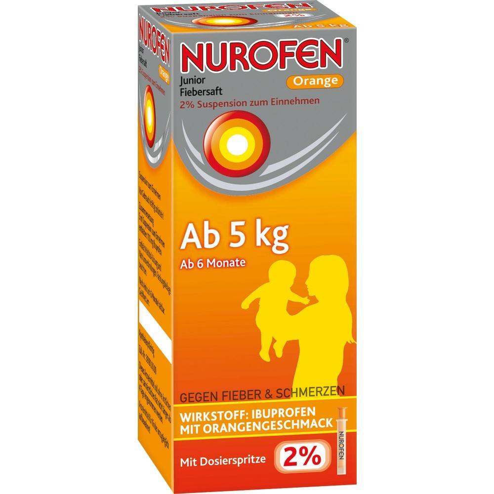 06789419, Nurofen Junior Fiebersaft Orange 2%, 100 ML