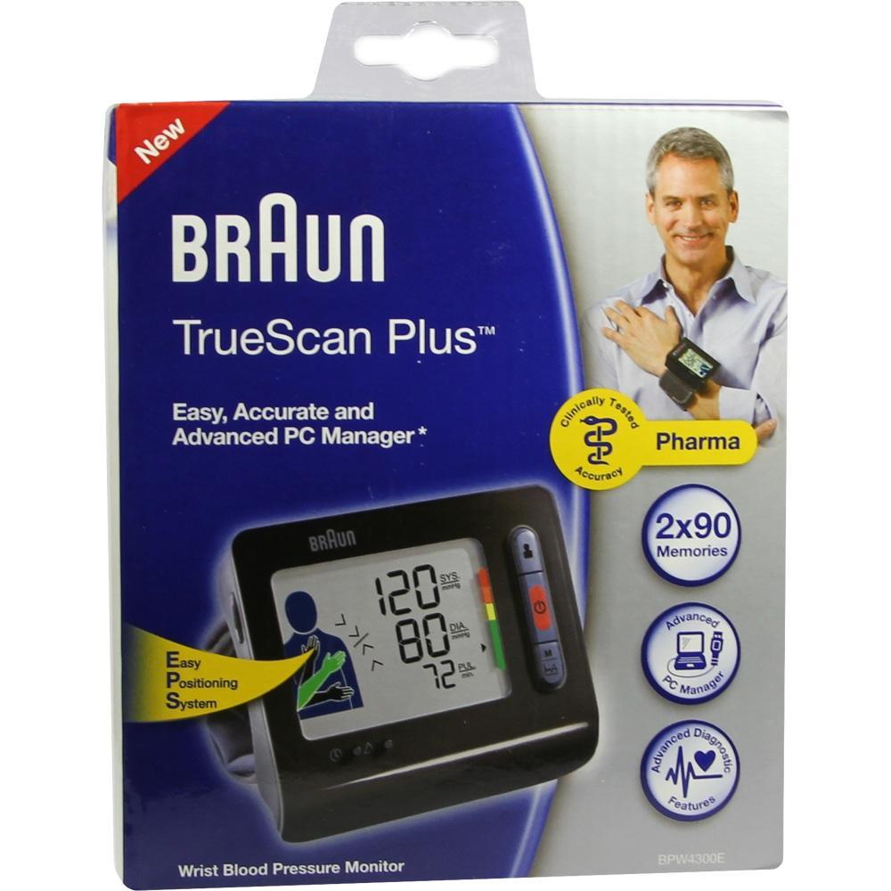 06800747, Braun TrueScan Plus BPW 4300 Handgel.Blutdr.messge, 1 ST