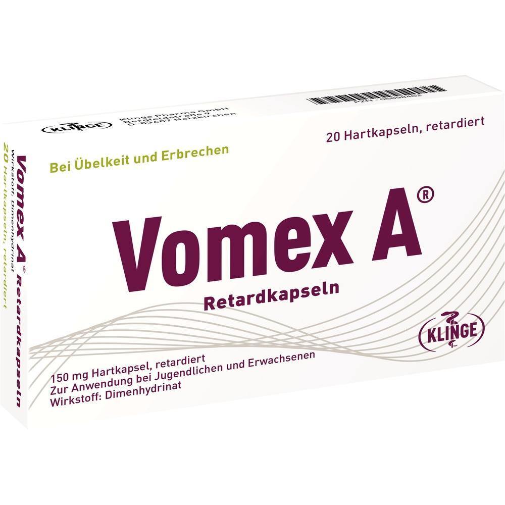 06898462, Vomex A Retardkapseln N, 20 ST
