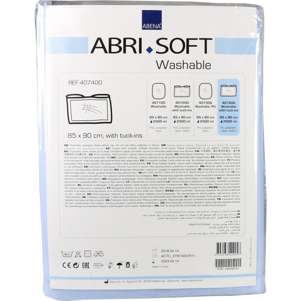 06908781, Abri-soft waschbare Unterlage PU85x90 m.Einsteckfl, 1 ST