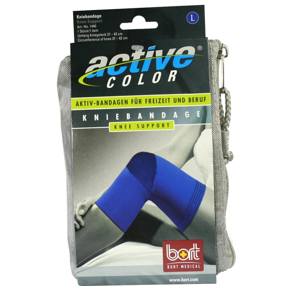 BORT ActiveColor Kniebandage large blau