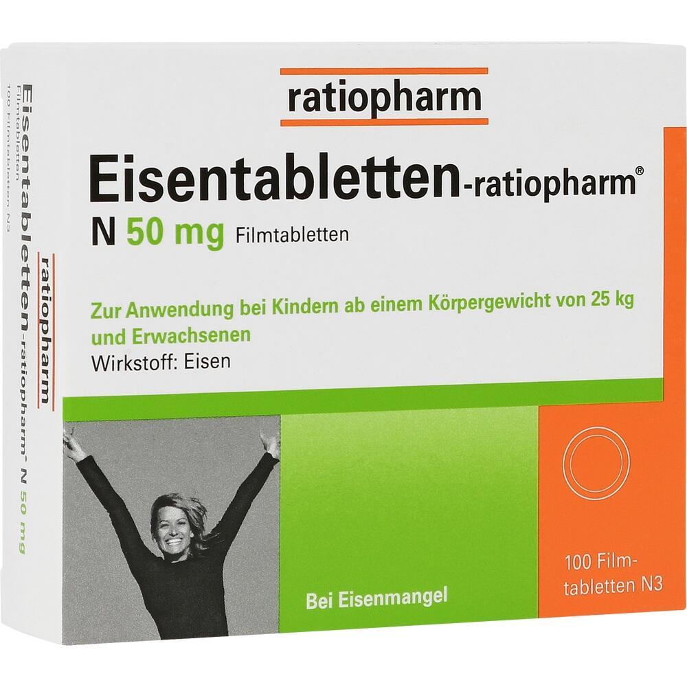 06957905, Eisentabletten-ratiopharm N 50mg Filmtabletten, 100 ST