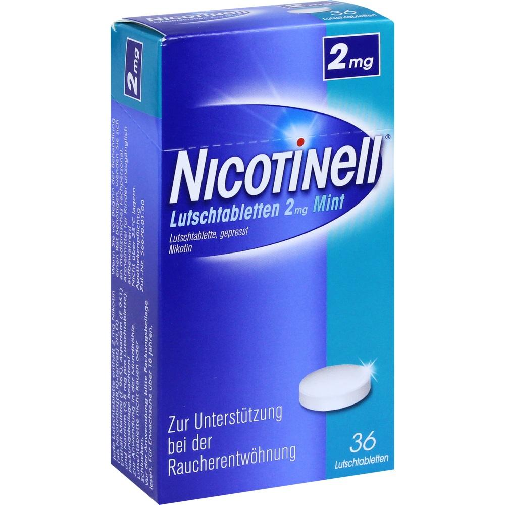 07006448, Nicotinell Lutschtabletten 2mg Mint, 36 ST