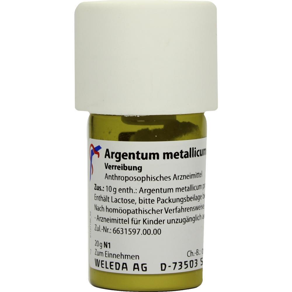 ARGENTUM METALLICUM praeparatum D 8 Trituration