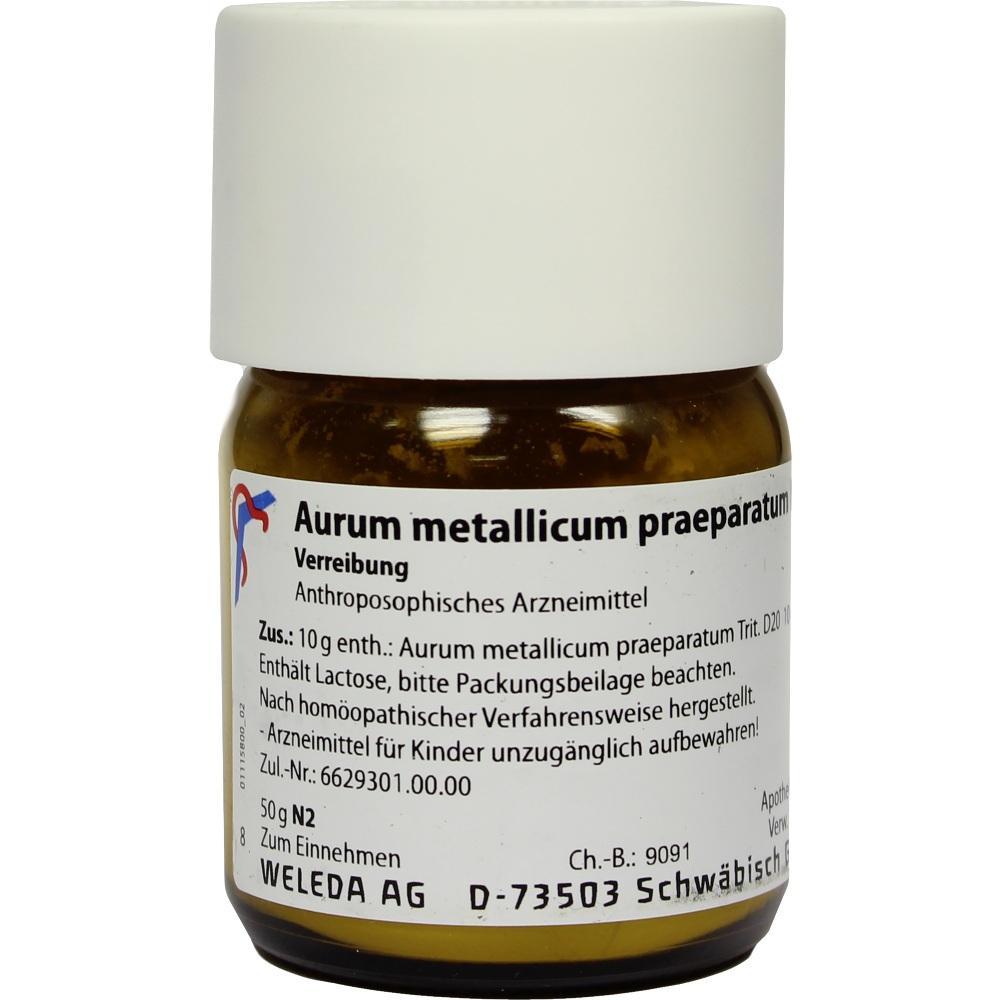AURUM METALLICUM PRAEPARATUM D 20 Trituration