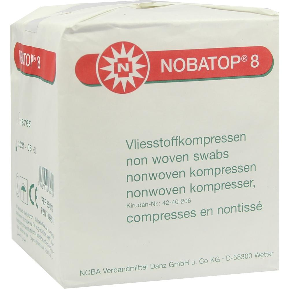 NOBATOP 8 Kompressen 10x10 cm unsteril