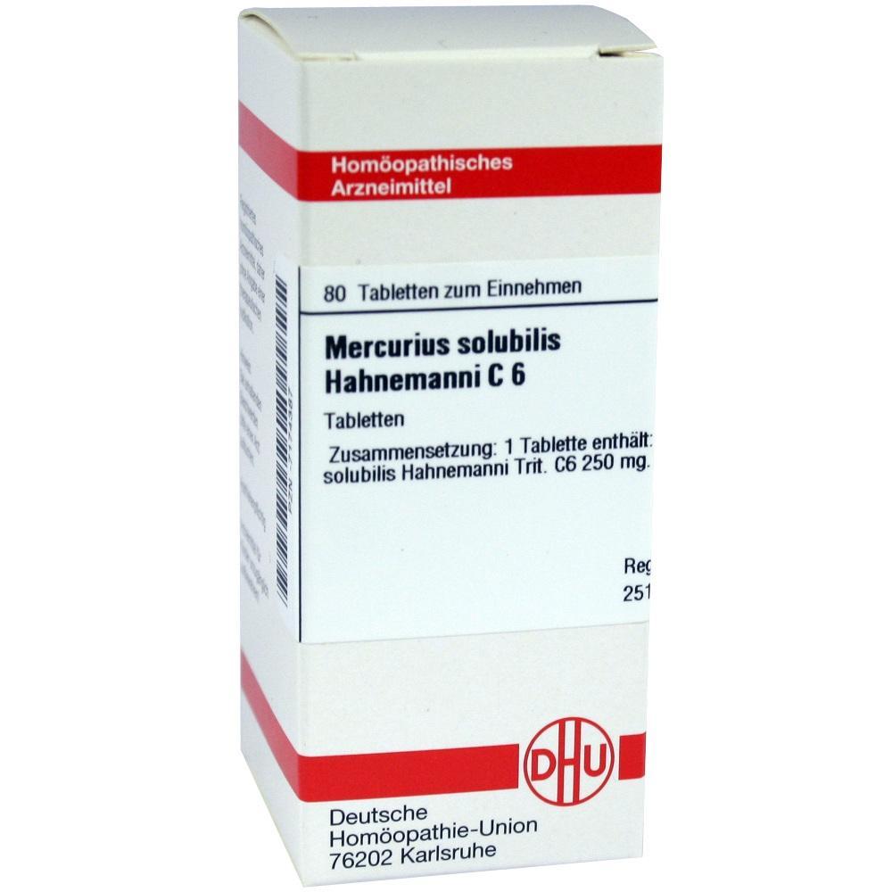 MERCURIUS SOLUBILIS Hahnemanni C 6 Tabletten