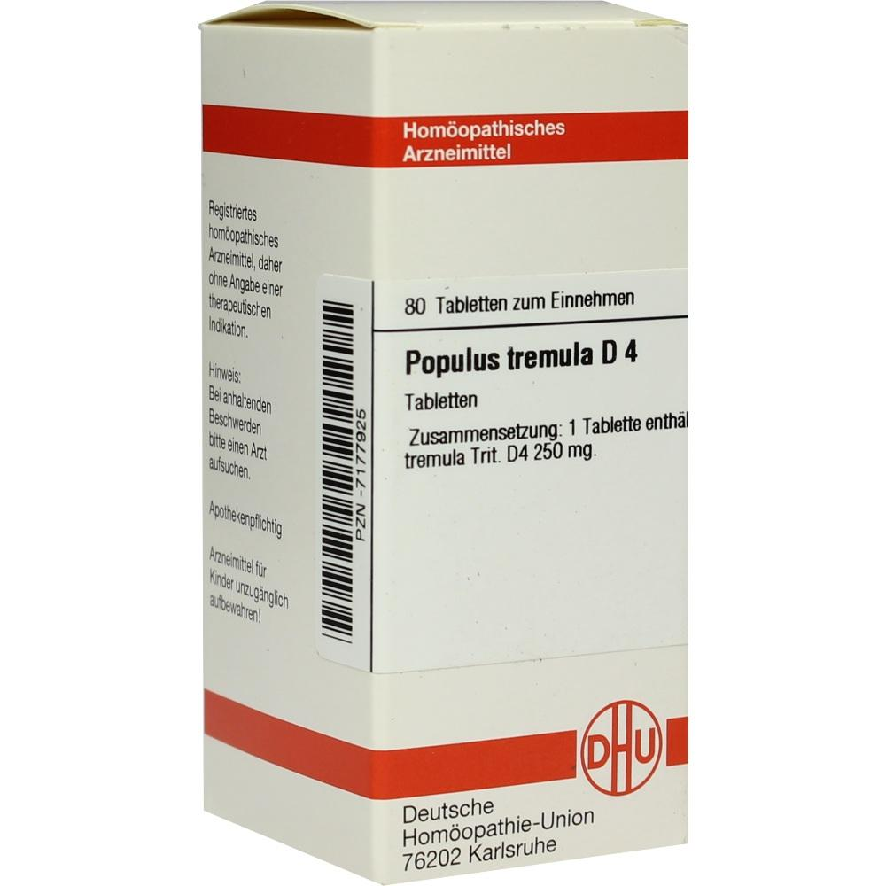 POPULUS TREMULA D 4 Tabletten