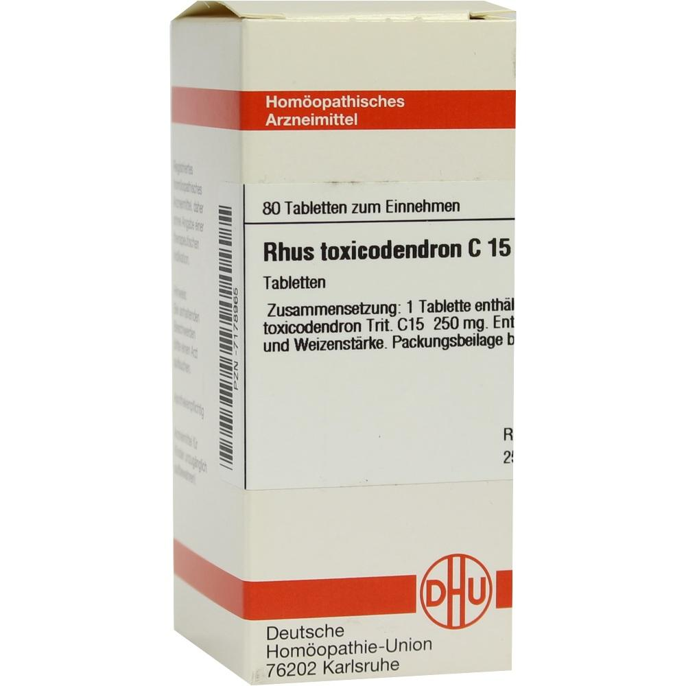 RHUS TOXICODENDRON C 15 Tabletten