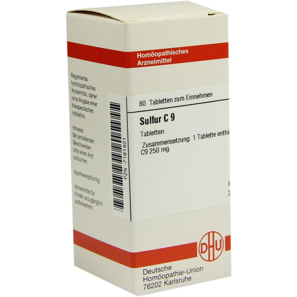 SULFUR C 9 Tabletten