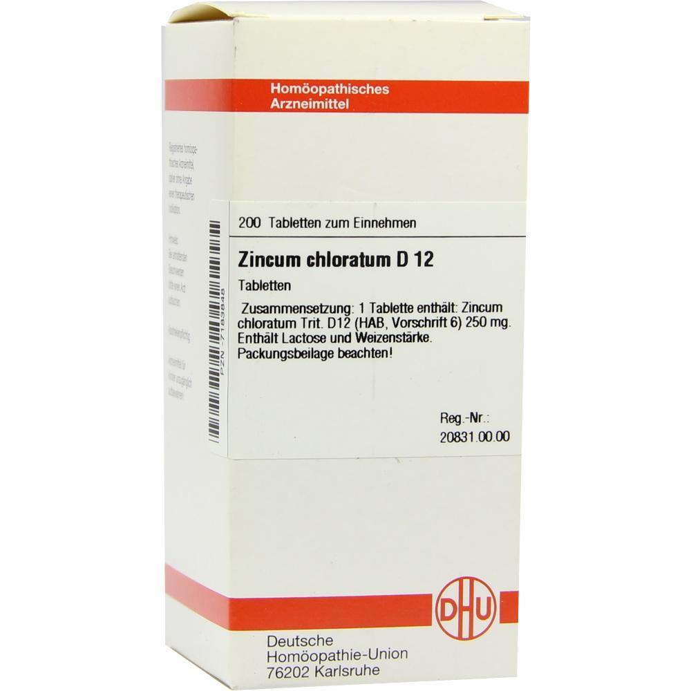 ZINCUM CHLORATUM D 12 Tabletten