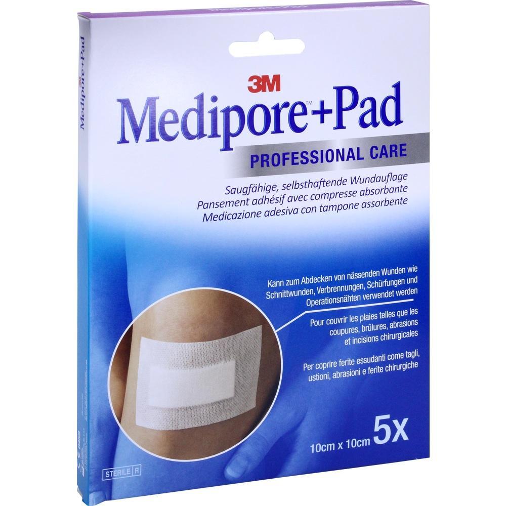 07194800, Medipore + Pad 3M 10.0 cm x 10.0 cm, 5 ST