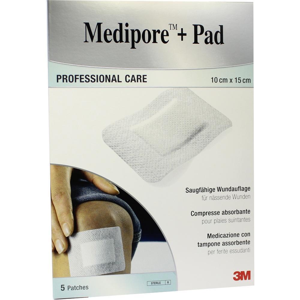 07194817, Medipore + Pad 3M 10.0 cm x 15.0 cm, 5 ST