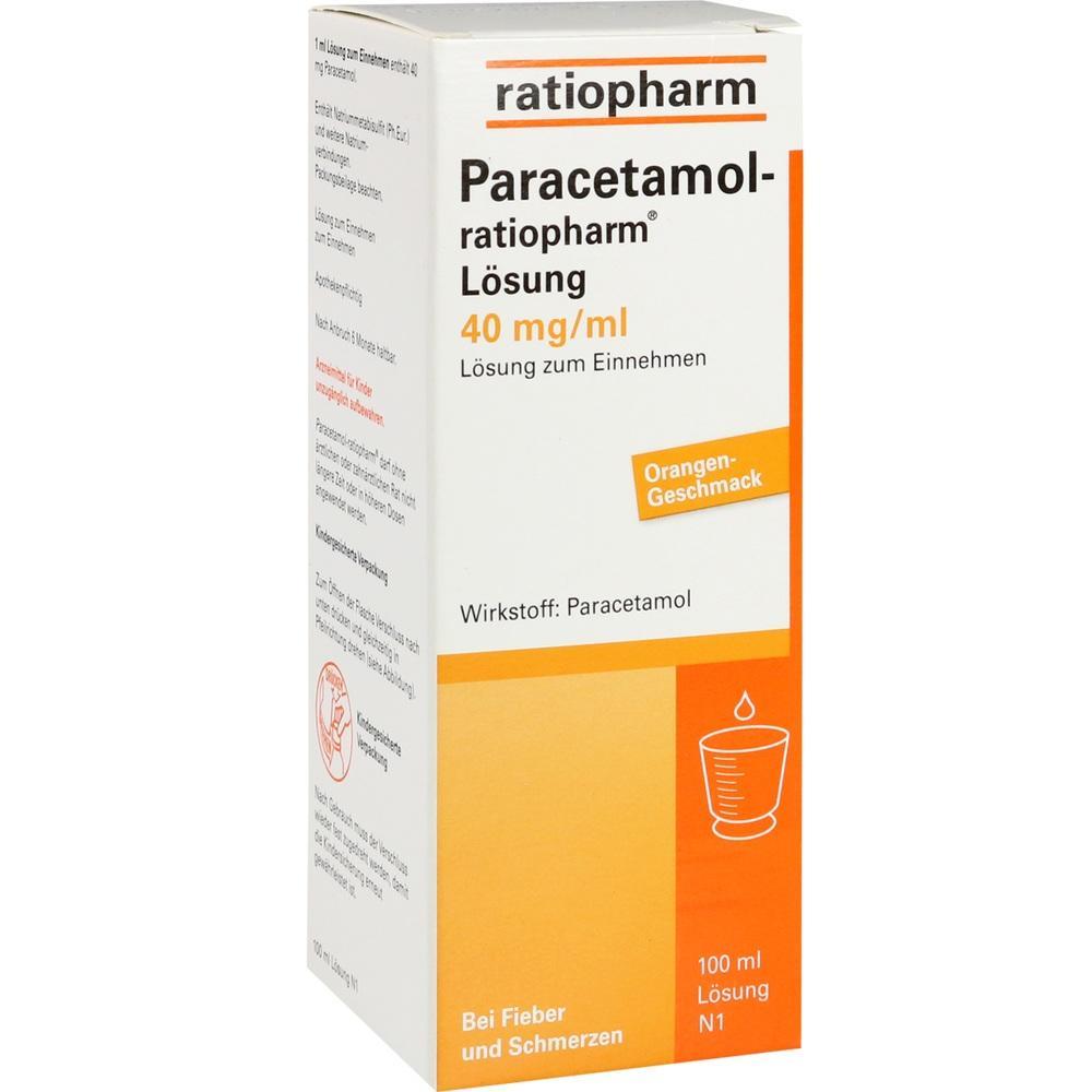 07263487, Paracetamol-ratiopharm Lösung, 100 ML