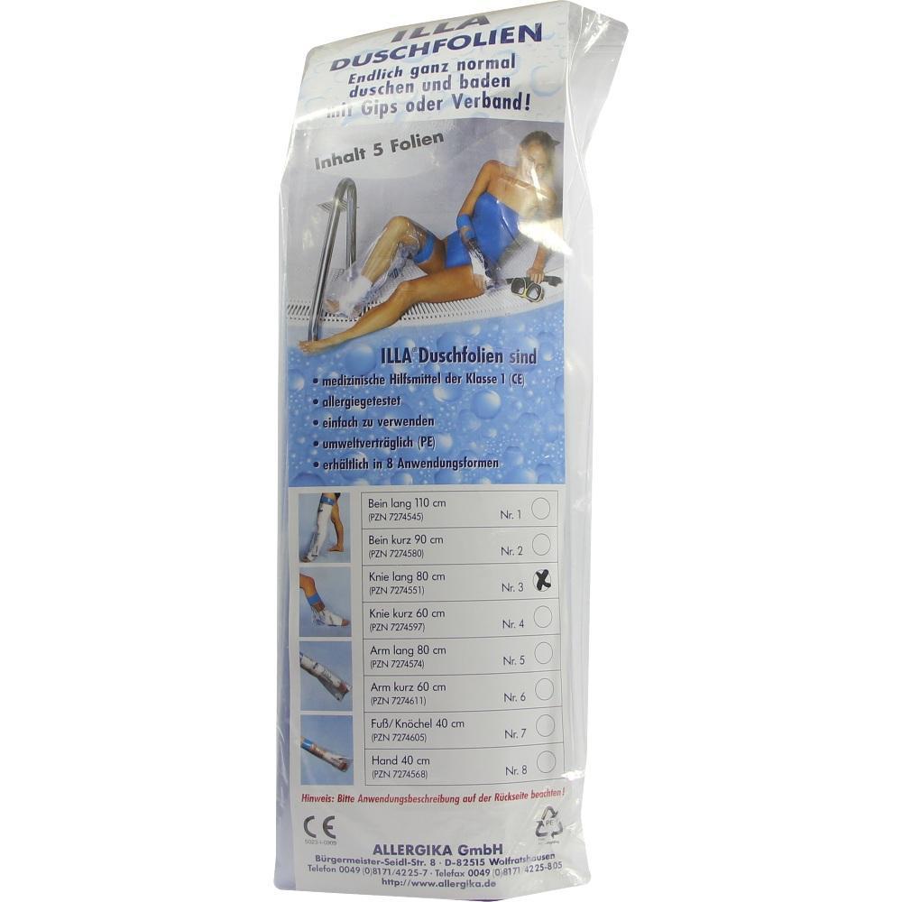 07274551, Dusch Folien Knie lang 80cm, 5 ST