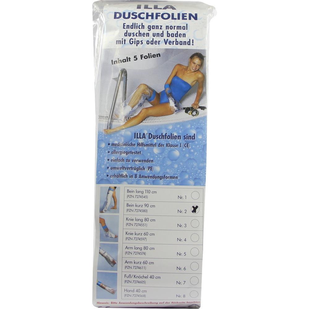 07274580, Dusch Folien Bein kurz 90cm, 5 ST