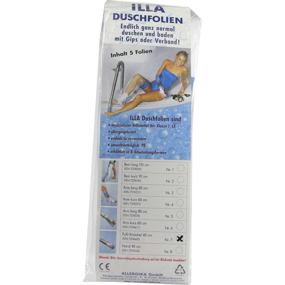 07274605, Dusch Folien Fuss/Knoechel 40cm, 5 ST