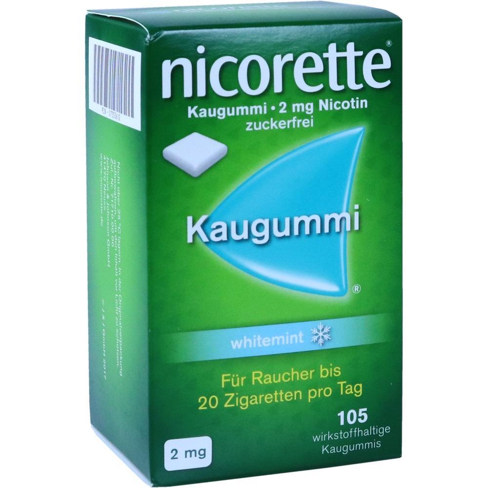07353612, nicorette Kaugummi 2mg whitemint, 105 ST