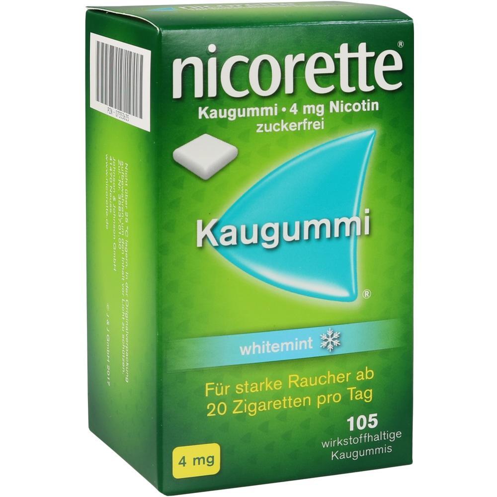 07353635, nicorette Kaugummi 4mg whitemint, 105 ST