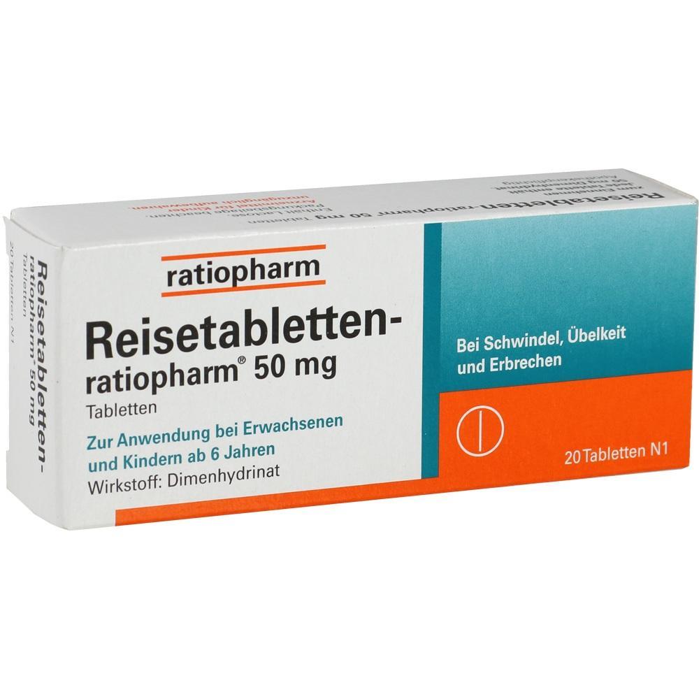 07372118, REISETABLETTEN-RATIOPHARM, 20 ST