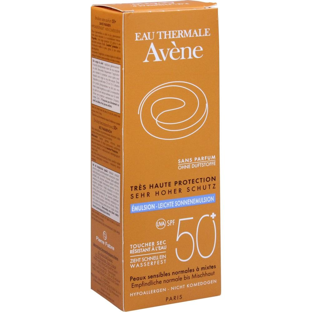 07388094, AVENE SunSitive Sonnenemulsion SPF 50+ o. Duftst., 50 ML