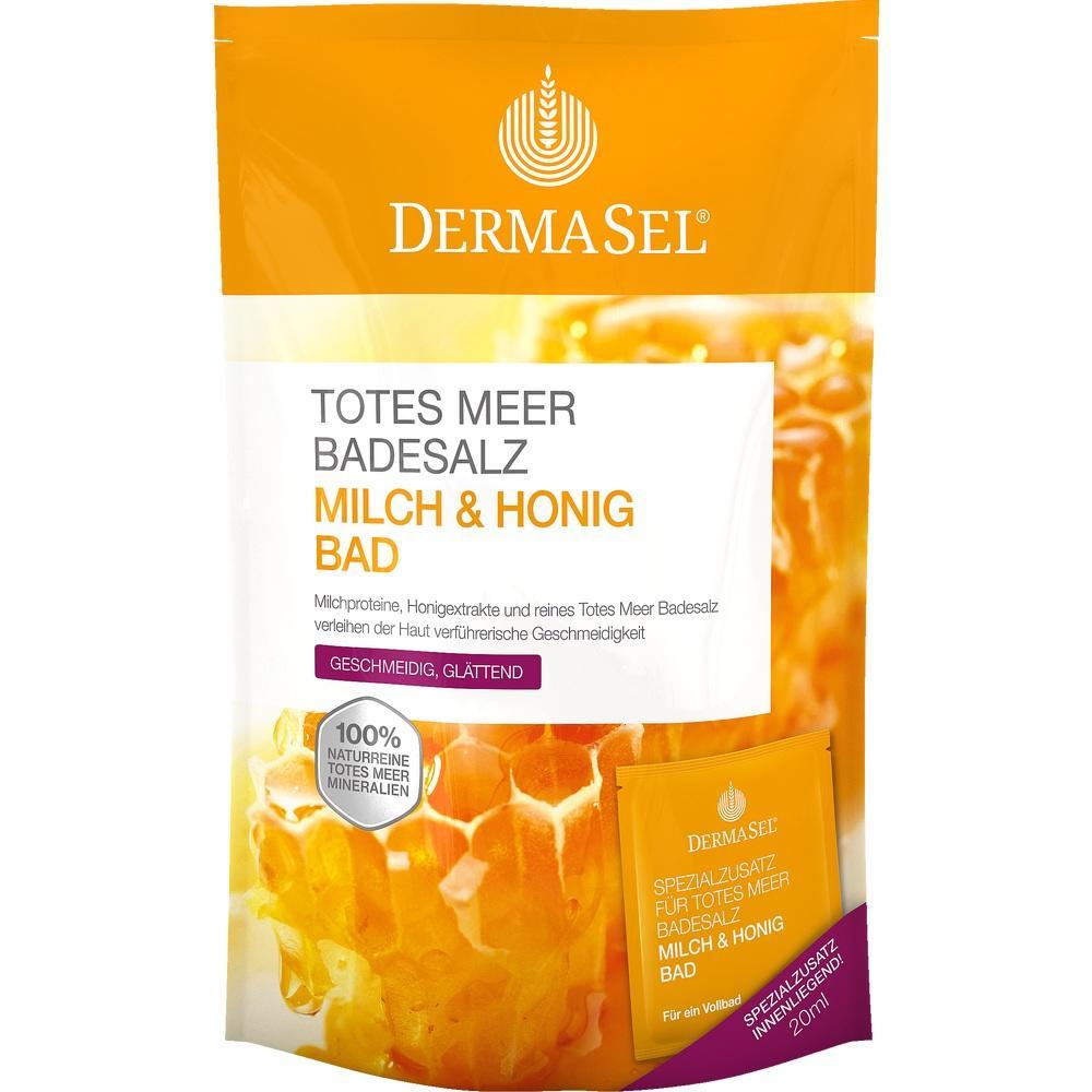 07388645, DermaSel Totes Meer Badesalz + Milch & Honig SPA, 1 P