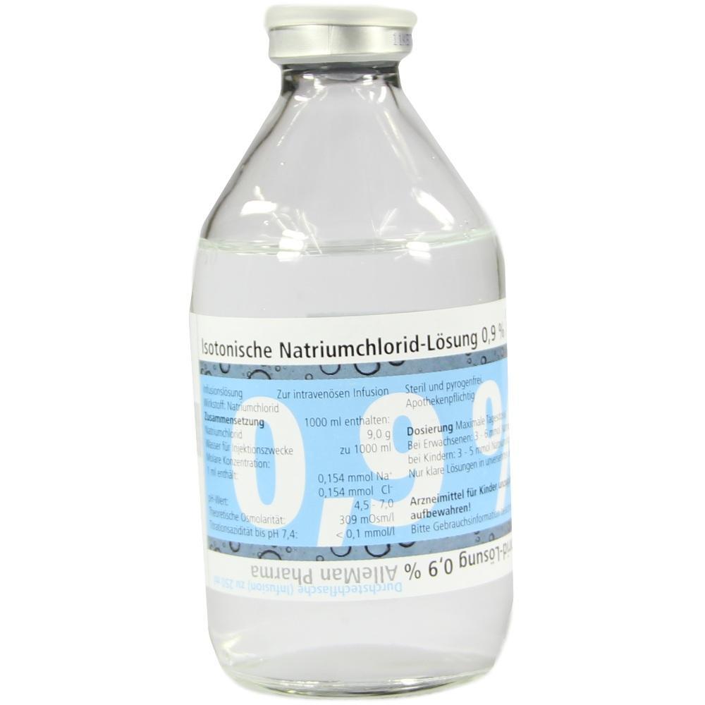 07462985, Isotonische NaCl 0.9% DELTAMEDICA Glasinf., 1X250 ML