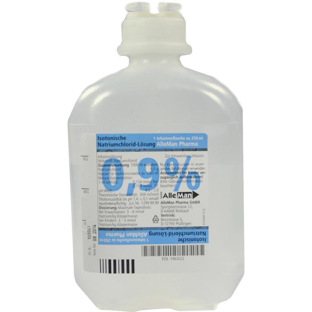 07463022, Isotonische NaCl 0.9% DELTAMEDICA Plastikinf., 1X250 ML