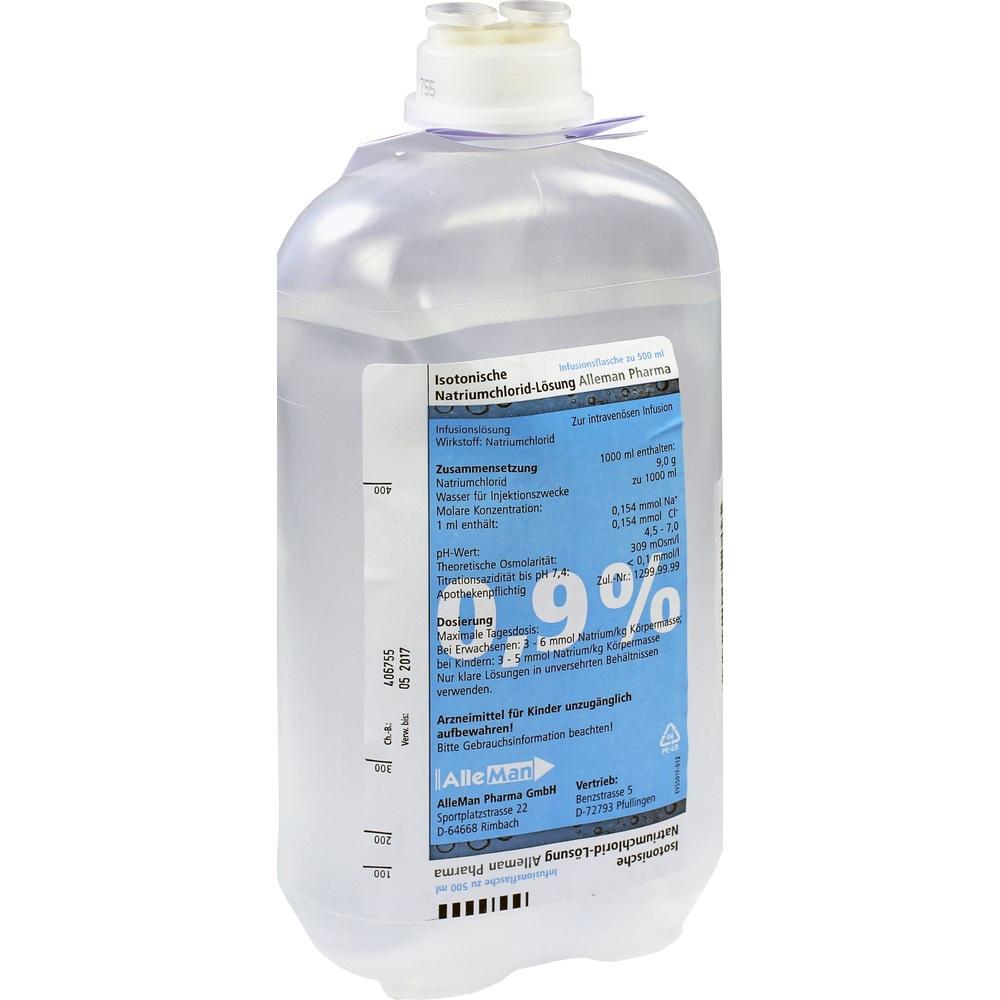 07463039, Isotonische NaCl 0.9% DELTAMEDICA Plastikinf., 1X500 ML